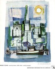 Hazard Durfee Rhode Island Artist CONTAINER CORPORATION OF AMERICA 1949 Print Ad