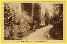 cpa RARE 95 - Village de VALMONDOIS (Val d'Oise) Chemin d'ORGEVAUX Ed. PETITJEAN