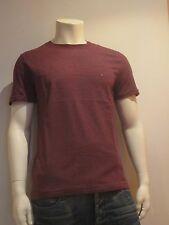 b1a3a8d8 Tommy Hilfiger Thin Striped SS Size S Men's T-shirt Shirt Red