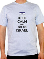 KEEP CALM AND GO TO ISRAEL - Israeli / Middle East / Novelty Themed Mens T-Shirt