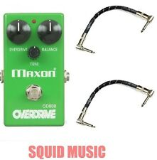 Maxon OD808 Overdrive Vintage Reissue ( 2 FREE FENDER PATCH CABLES) Tubescreamer