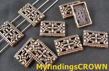 50Pcs Antiqued copper 3 hole ornate cover spacers FC381