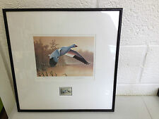 1989 Federal Duck Stamp Print and Stamp Snow Geese Signed Daniel Smith