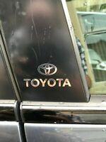 TOYOTA Chrome Vinyl Decals/stickers Car Door Pillar, Car Windows Etc...X 2