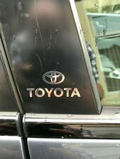TOYOTA Chrome Vinyl Decals/stickers Car Door Pillar, Car Windows Etc...X 2