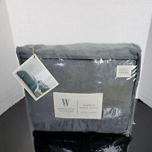 Wamsutta Vintage Gauze Ruffle Duvet Cover - Aegean green~ Size: Full/Queen