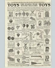 1919 PAPER AD American Painted Marbles Steelies Cobalt Blue Onyx Agates Box Kite