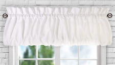 "Ellis Curtain Stacey Balloon Valance 60"" x 15"" White"