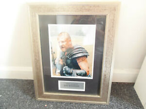 10 x 8 photo hand signed by RAY WINSTONE - FRAMED AND MOUNTED TO 19X15 -AFTAL