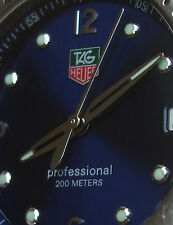 TAG HEUER MEN'S MAN KIRIUM SPORT DIVING WATCH 200 M BLUE w/STRAP WL1113