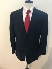 $2,878 Canali Italy Men's Navy Striped 100% Wool Suit Size 42R 34x32