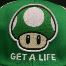 Nintendo Super Mario Cap Green Mushroom Hat 1 Up One Extra Get a Life  S/M
