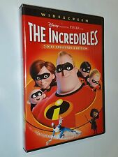 The Incredibles Walt Disney Pixar Dvd 2-disc set mint condition + slipcase