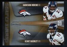 KNOWSHON MORENO KENNY MCKINLEY 2009 PLAYOFF CONTENDERS RC DRAFT CLASS BRONCOS SP