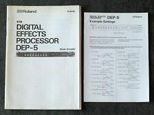 Vintage genuine Roland DEP-5 Manuel de l'utilisateur en français + exemple