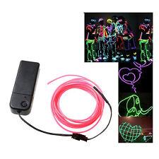 3X Weiss Lichtschnur Leuchtschnur Leuchtdraht EL Neon Kabel DE