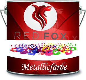 RED FOX 10 Liter exklusive Metallicfarbe Latexfarbe Innenwandfarbe