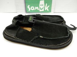 Sanuk Mens Sidewalk Surfers Vagabond Artesano Black Size 9