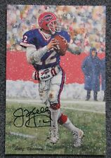 JIM KELLY GOAL LINE ART 2002 BUFFALO BILLS LIMITED 2/100 RARE SIGNED AUTOGRAPH