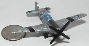 Small Micro Machine USAAF WWII type P-51 Mustang with Black Stripes