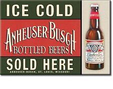 Budweiser Bier - Ice Cold Sold Here - USA Werbung Magnet Magnetschild