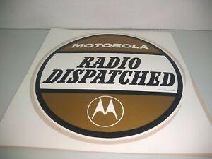"Vintage Motorola Dispatched Ensignia Decal 8 3/4"" Gold NOS"