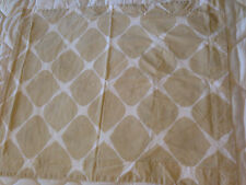 100% Egyptian Cotton Standard Size Pillow Sham Beige & White Geometric Squares