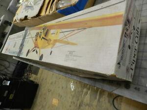 PIPER CUB Carl Goldberg Balsa airplane kit plus Nieuport 17 plans