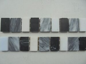 FASCIA MIXED MARBLE BORDER TILES 25 x 3.5cm IN GREY PACK OF 320