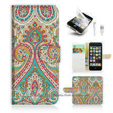 ( For iPhone 5 / 5S / SE ) Wallet Case Cover! Indian Tribal Pattern P0023