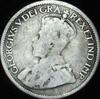 1912 Good Canada Silver 10 Cents - KM# 23 - JG