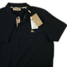 BURBERRY T SHIRT  MENS POLO NAVY COLOR SHORT SLEEVE S CHECKED INNER
