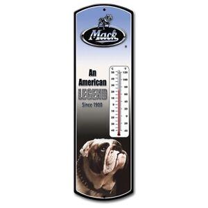 "Mack Trucks 24"" Indoor Steel Thermometer First Gear New IOB  90-0401"