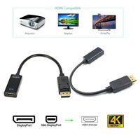 Mini Displayport DP Male To HDMI Female 4K 1080P Adapter Cable For ProjectoB TE