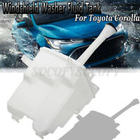 Windshield Washer Fluid Reservoir With Tank Cap & Pump For Toyota Corolla 09-13