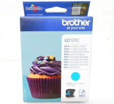 Cartouche d'Encre Original Origine BROTHER LC123C Cyan 01/2016 CupCake Genuine