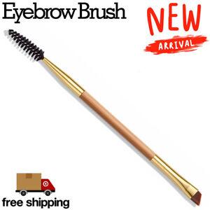 Eyebrow Double Ended Flat Angled Eyeliner Eyeshadow Make up Brow Mascara Brush