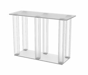 Clear Acrylic Plexiglass Table Transparent Showroom Desk Contemporary Dining
