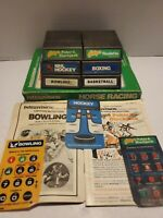Intellivision Sports Game Lot (7 Games) with some overlays and manuals