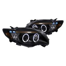 2009-2010 Toyota Corolla LED DRL Projector Headlights Black Housing TRD CE Sport