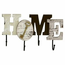 HOME Shabby Chic Key Hook Wall Hanger Home Sign Hanging Coat Key Hook Rack