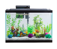 29 Gallon Fish Aquarium Starter Pack with LED Fish Tank Complete Aqua Kit Filter