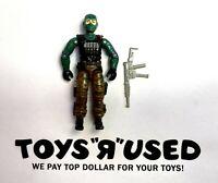 "Beachhead v1 Vintage GI Joe 3.75"" Action Figure 1986 Hasbro ARAH w/ Rifle Gun"