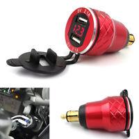4,2 A Dual USB Ladegerät Adapter Spannungsanzeige für Motorrad BMW F800GS F650GS