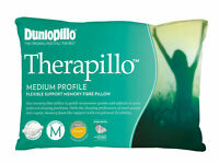 Dunlopillo Therapillo Flexible Support Memory Fibre Medium profile Pillow