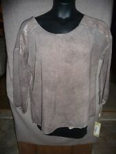 URBAN MANGOZ Brown BOHO Style Lined Top Blouse Size M Medium New With Tags