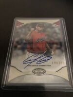 Carlos Carrasco 2020 Topps Tier One On-Card Auto High End SP #/299 Indians