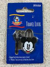 Disney Mickey's World Mickey Mouse Black Small Travel Lock with 2 Keys New