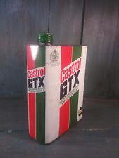 Ancien bidon huile castrol gtx vintage vieux garage auto publicité