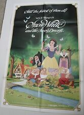 SNOW WHITE AND THE SEVEN DWARFS MOVIE POSTER ORIG ONE SHEET R83 WALT DISNEY